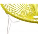détail fauteuil structure blanche Fauteuil Tulum Jaune Moutarde
