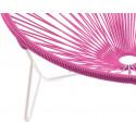 detail stuhl white frame und Magenta Tulum stuhl