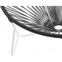 détail fauteuil structure blanche Fauteuil Tulum Noir