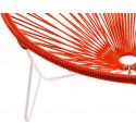 détail fauteuil structure blanche Fauteuil Tulum Rouge