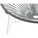 détail fauteuil structure blanche Fauteuil Tulum Gris