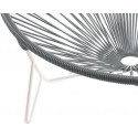 detalle de silla de estructura blanca Tulum Gris