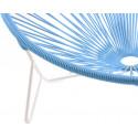 detalle de silla de estructura blanca Tulum Azul Cielo