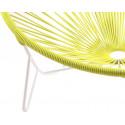 detalle de silla de estructura blanca Tulum Amarillo