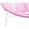 détail fauteuil structure blanche détail fauteuil structure blanche Fauteuil Tulum Rose