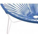 détail fauteuil structure blanche Fauteuil Tulum Bleu Nuit