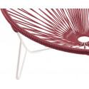 detail stuhl white frame und Bordeaux Rot Tulum stuhl