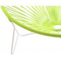 détail fauteuil structure blanche Fauteuil Tulum Vert Anis