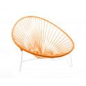 Orange Tulum sunbadden und weiss struktur