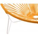détail fauteuil structure blanche Fauteuil Tulum Orange