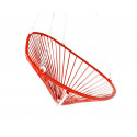 Red Acapulco swing white frame chair