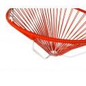 detalle de silla colgante estructura blanca Acapulco Rojo