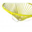 Details of Yellow Acapulco hanging white frame chair