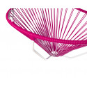 Details of Magenta Acapulco hanging white frame chair