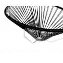 detalle de silla colgante estructura blanca Acapulco Negro