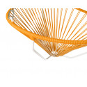Details of Orange Acapulco hanging white frame chair