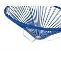 detalle de silla colgante estructura blanca Acapulco Azul Marino
