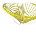 détail fauteuil structure blanche suspendu Acapulco Jaune Moutarde