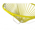 Details of Lemon Yellow Acapulco hanging white frame chair