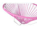 Details of Pink Acapulco hanging white frame chair