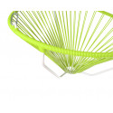 Details of Green Acapulco hanging white frame chair