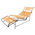 Orange Liege Stuhl Vallarta