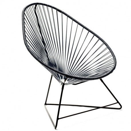Black Acapulco Chair And Black Frame