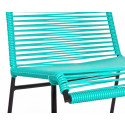 Turquoise chair coils