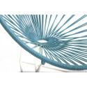 fauteuil acapulco enfant Bleu Fjord structure blanche