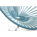 Fjord Blue acapulco kids chair White frame