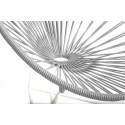 fauteuil acapulco enfant Gris Silex structure Blanche