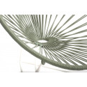 fauteuil acapulco enfant Vert Olive structure blanche