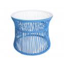 Table ITA Cielo Azul estructura Blanca