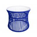 Night Blue Table ITA White frame
