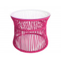 Fuschia Table ITA White frame