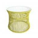 Table ITA Mostaza Amarilla estructura Blanca