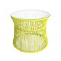 Yellow Table ITA White frame