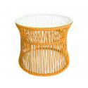 Orange Table ITA Weisse struktur
