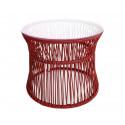 Rotwein Table ITA Weisse struktur