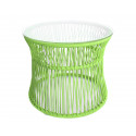 Lime Green Table ITA White frame