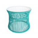 Turquoise Table ITA White frame