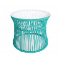 Table ITA Vert Turquoise structure Blanche