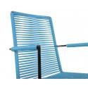 Chaise Design avec accoudoir Bleu Fjord