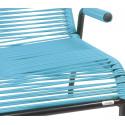 fjord blauer Sessel im Freien