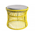 Ottoman fauteuil Acapulco Jaune Moutarde