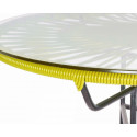 Détail Table Acapulco Jaune Moutarde