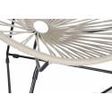 Acapulco Hemp woven Chair and Black frame