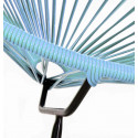 Acapulco Blue Fjord Chair and Black frame