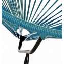 Blaue Ente Acapulco Stuhl Schwarz Struktur