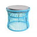 Ottoman fauteuil Acapulco Bleu Fjord